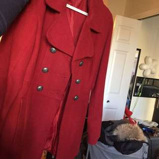 Military Jacket XS Suzy Fall Red Coat