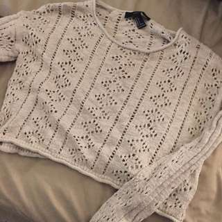 Forever 21 Knit Cropped Sweater Size Small