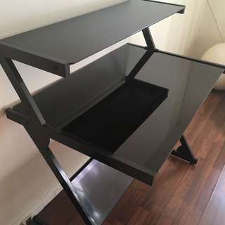 Black Steel Computer Desk