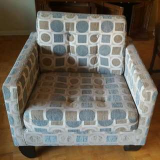 armchair upholstery square circle motif from Brick in excellent condition