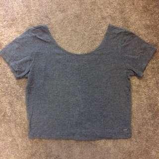 Grey Tight T-shirt Crop