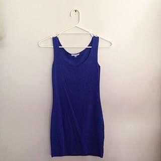 Navy Blue Valleygirl Short Petite Dress Size XS