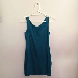 Turquoise Valleygirl Short Petite Dress Size XS
