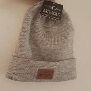 Culture Kings Grey Heather Patch Beanie
