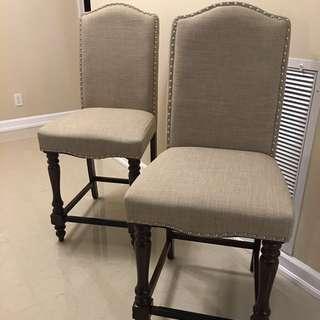 2 Pcs High Dining Chairs