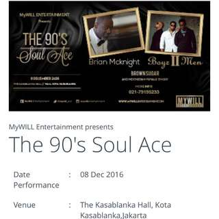 2 Tiket MURAAH konser the 90's Soul Ace
