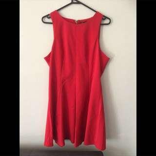 Dress - Lipstick Red