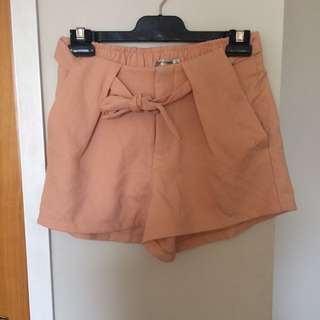 Nude Peach Shorts Size 8