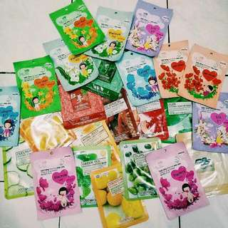 MASKER Korea MJ Care, Food A Holic, etc. Korean Mask 24pcs