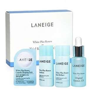 (New) Laneige White Plus Renew Trial Kit 4pcs