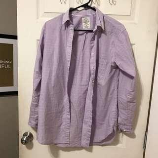 Aritzia Boyfriend Lilac Shirt