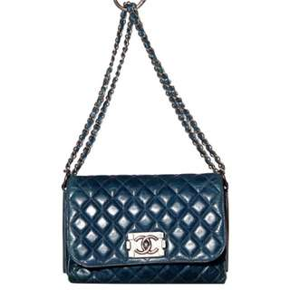 [CHANEL] Authentic Boy Bag with Double Leather Entwined Chain Handles