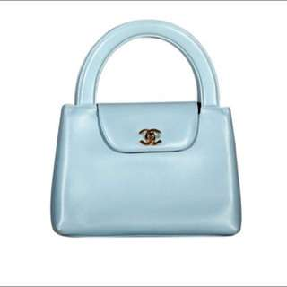 [CHANEL] Duck Egg Blue Lambskin Party Bag
