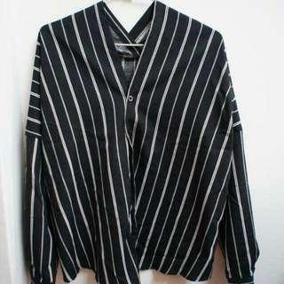 (保留)黑白條紋襯衫
