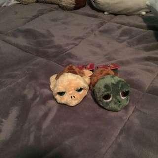 2 Turtle Plushies