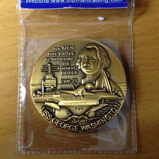USS George Washington CVN 73 Coin