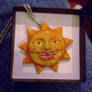 Handmade Happy Sunshine Pendant