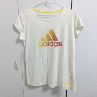 Adidas白色T恤L