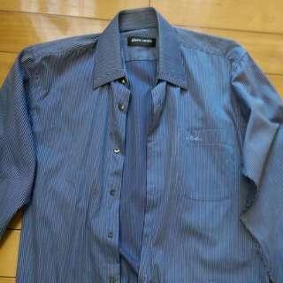 皮爾卡登條紋男襯衫