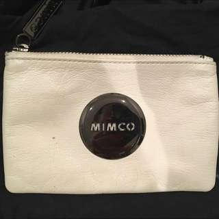 White Mimco Pouch