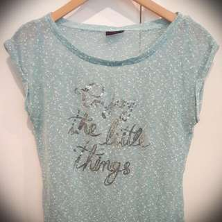Baby Blue Women Top.