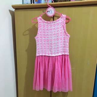 Peppermint Pink Dress For 6- 8 Yrs Old