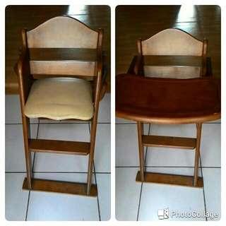 二手實木兒童高腳餐椅
