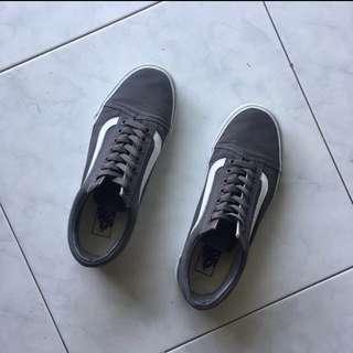 VANS Canvas Grey Old School Shoes