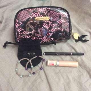 Luxury Girly Makeup And Jewelry Bundle