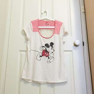 Disney Top With Lace Back