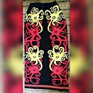 Tribal Red Long Skirt