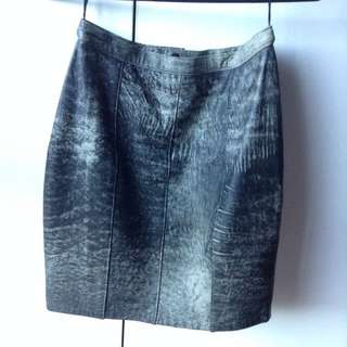 Leather Mid/High Waisted Skirt