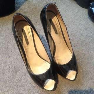 Tony Bianco Patent Leather Platform Heels Size 8