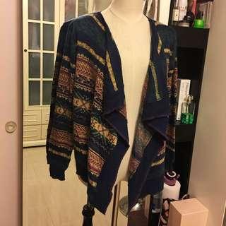 民族針織外套