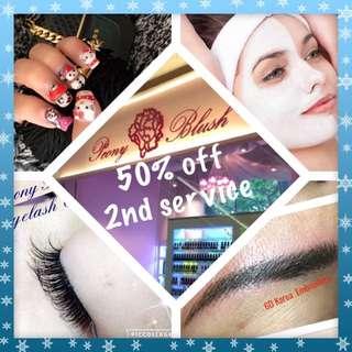 Eyelash Extension, Nail Art, Facial, Eyebrow Embroidery