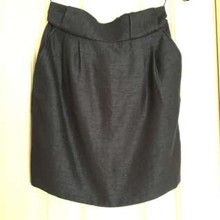 Karen Walker Navy Skirt