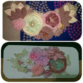 [NECKLACE SOLD] Package Shabby Necklace+Headpiece+Bross Handmade