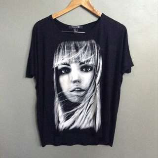 Black Graphic Tee from Forever 21