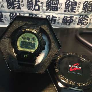 G-shock手錶 Dw-6900CB 黑金