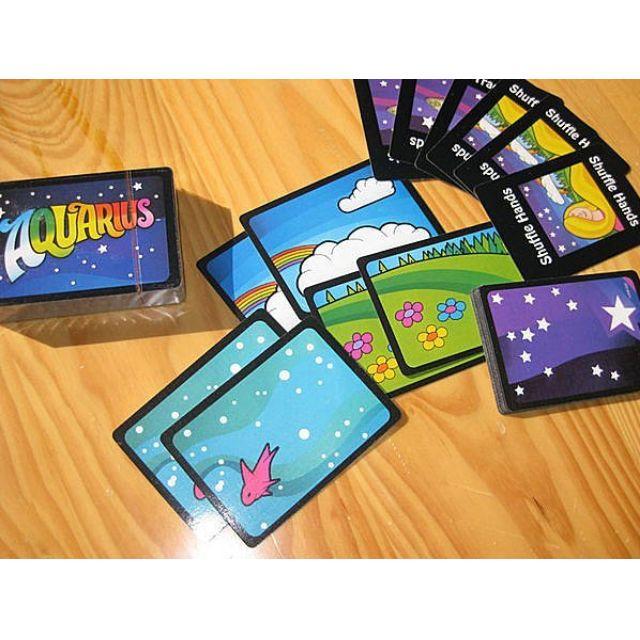 [ 轉角 ]~限量特價~【Aquarius水瓶座/花花世界 繁體中文版】附足量牌套 桌遊 桌面遊戲