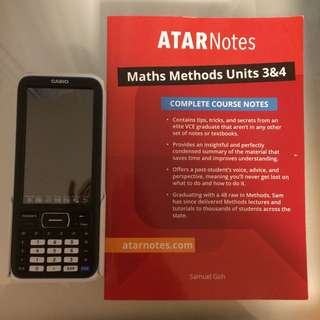 Casio class pad and maths Methods ATAR notes units 3 and 4
