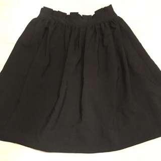Black High-waisted Dress Skirt