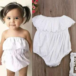 New Girls/ kids White Romper Onesie