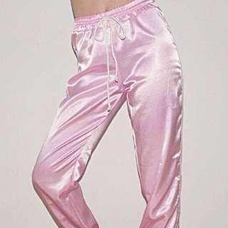 粉色 休閒 運動褲