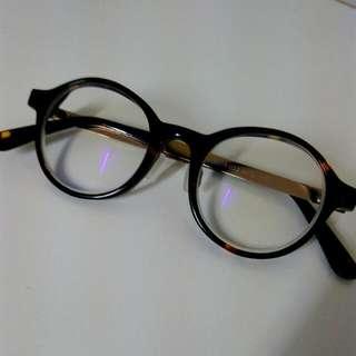 超美復古琥珀眼鏡glasense