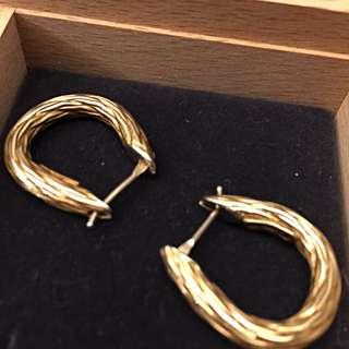 義大利18K金耳環
