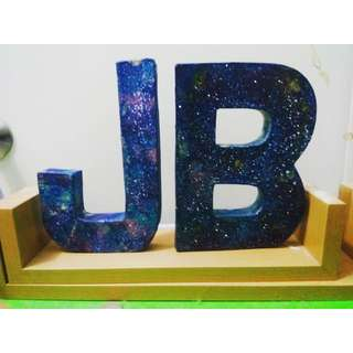 Galaxy Inspired Letter Standee