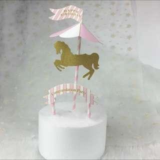 Carousel Unicorn Cake Topper