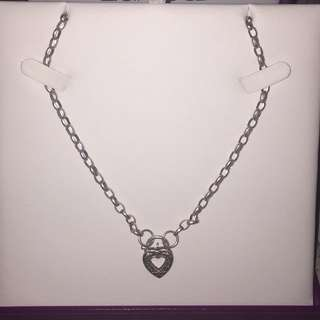 Silver Chain With Heart Pendant