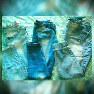 X 3 Jeans - GUESS/ZARA/FACTORY.